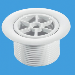 "McAlpine 1½"" Standard Waste - 70mm White Plastic (STW70WH)"